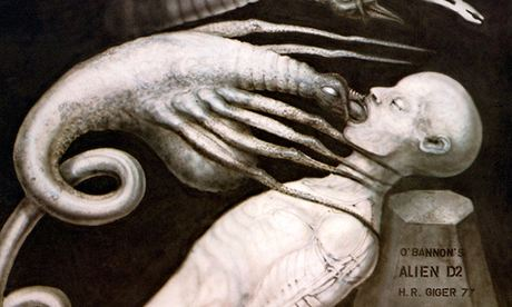 Hr giger the ruffled crow for Prometheus xenomorph mural