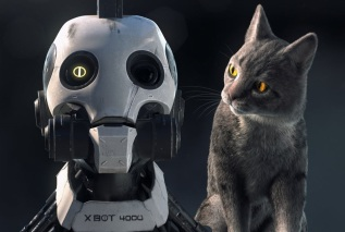 love death and robots cat
